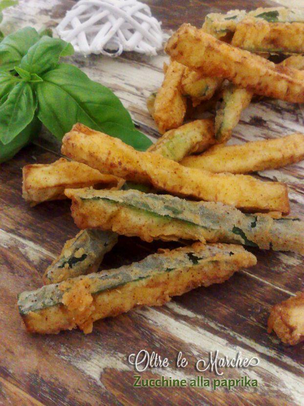 Zucchine fritte alla paprika,  come cucinare le zucchine, come fare i bastoncini di zucchine, contorni estivi, cucinare le zucchine, farina per friggere, finger food ricette, friggere le zucchine,