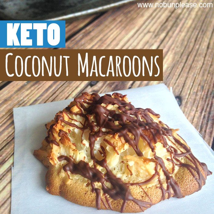 Low Carb Keto Coconut Macaroons - use sweetener instead of honey!