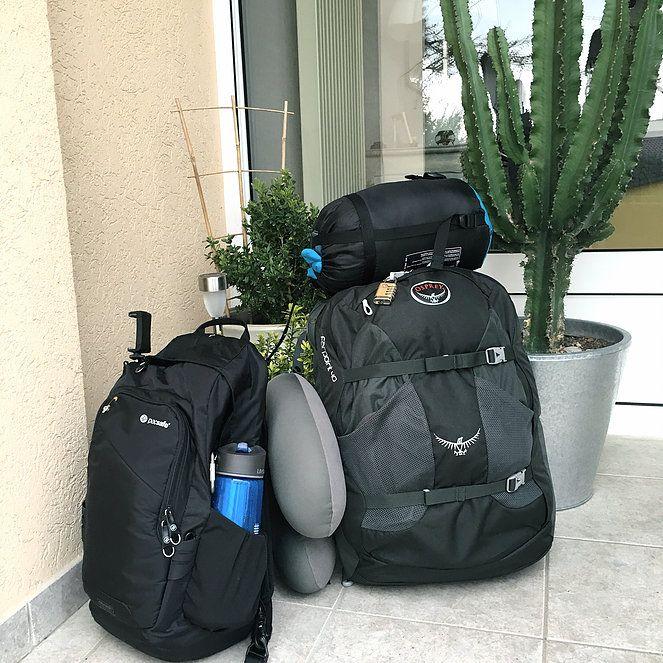 sac de voyage pour tour du monde écolo : Luizzati   blog zéro déchet, minimalisme & voyages   JE PRENDS QUOI EN TOUR DU MONDE ?