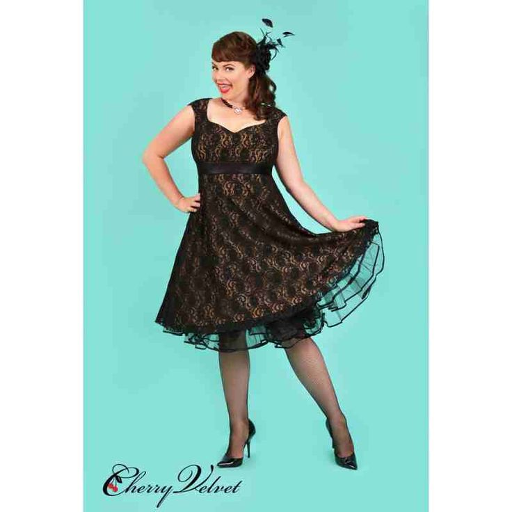 PRE-ORDER - Leah Lace Dress (Black over Nude) $244.00 http://www.curvyclothing.com.au/index.php?route=product/product&path=95_151&product_id=10246