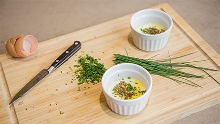 Variationen Frühstücks Ei aus dem Miele Dampfgarer - Rezeptsuche