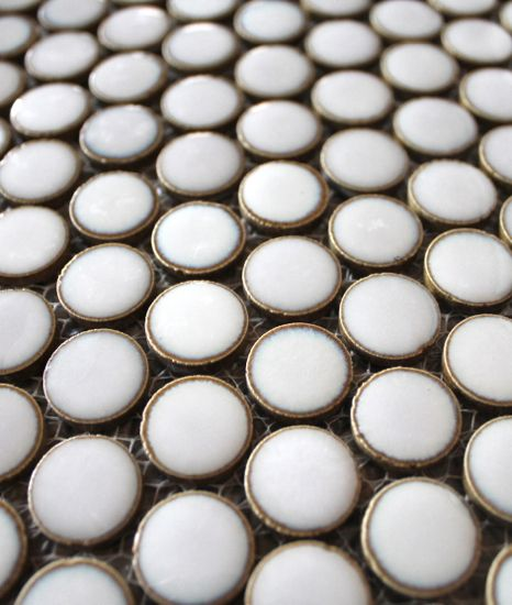 Metal Rim Penny Tiles Oh My Wow Need This Somewhere