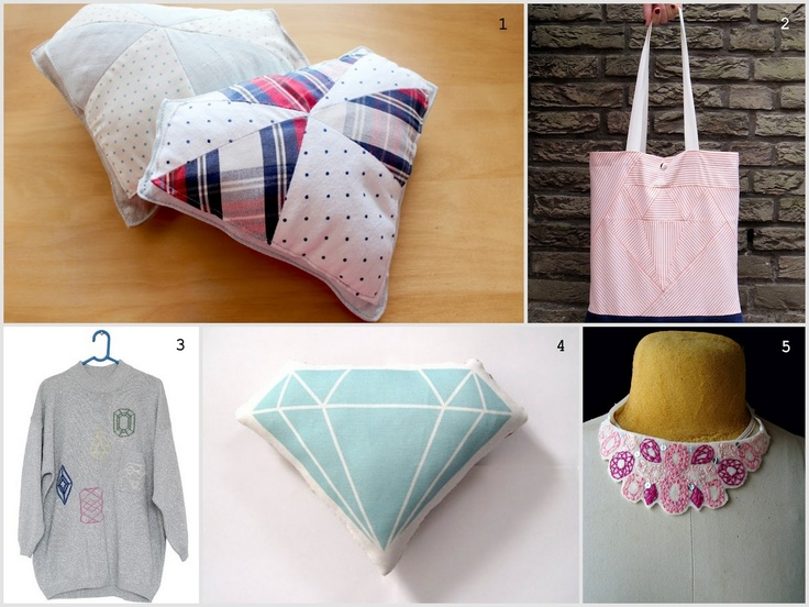 inspiration and realisation: DIY Fashion + Home: Do-Inspire-Yourself #13 // embroidery & sewing diamonds