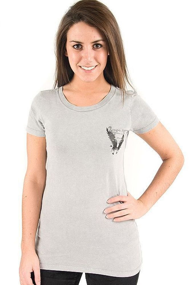 Lucky 7 Gray Ladies Guardian Angel Black Crystal Wings T-Shirt $55.90 CAD NWT Now 75% OFF