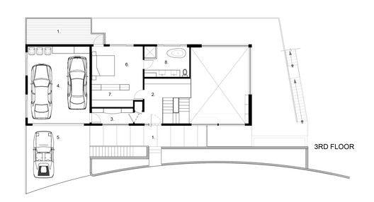Residencia Tamalpais,Planta tercer piso