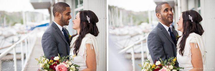 Groom & bride at Bluffers Park Restaurant, Scarborough Bluffs Wedding #sweetheartempirephotography http://sweetheartempire.com/blog/images/scarborough-bluffs-wedding