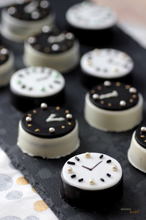 Oreos will be your new favorite way to countdown to midnight. Get the recipe from Pint Sized Baker.   - Delish.com