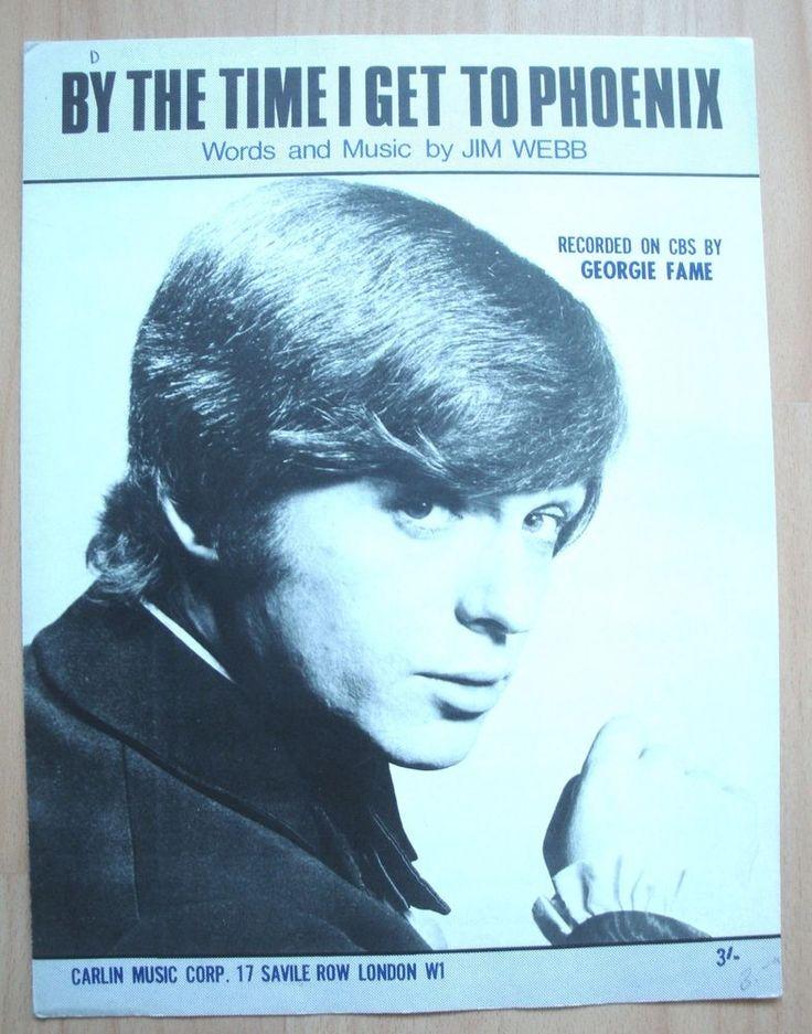 BY THE TIME I GET TO PHOENIX - GEORGIE FAME - JIM WEBB - 1966 - SLOWLY - NOTE | eBay