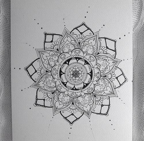 A Bloom Of Manly Design Ideas: Henna Design On Paper
