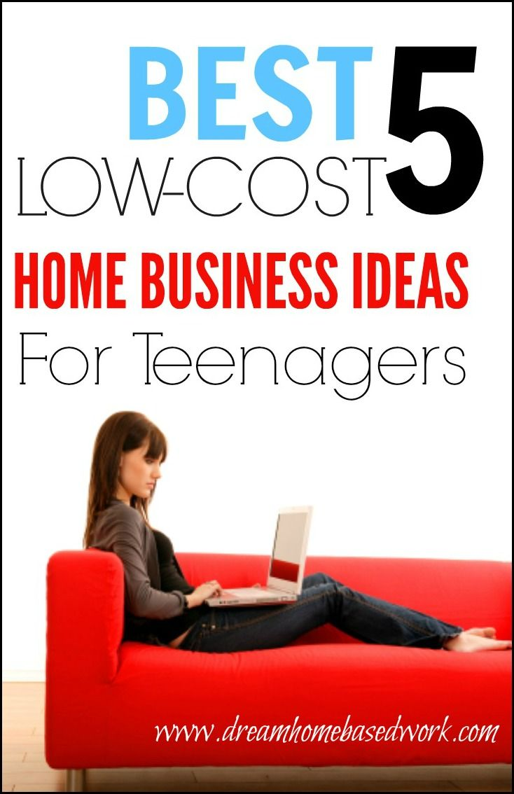 best 5 low-cost home business ideas for teenagers | pinterest | business