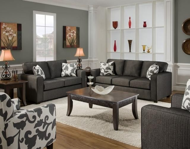 Slate Grey With A Fun Accent Pillow And Accent Chair Right On Trend And Easy To Switch It Up