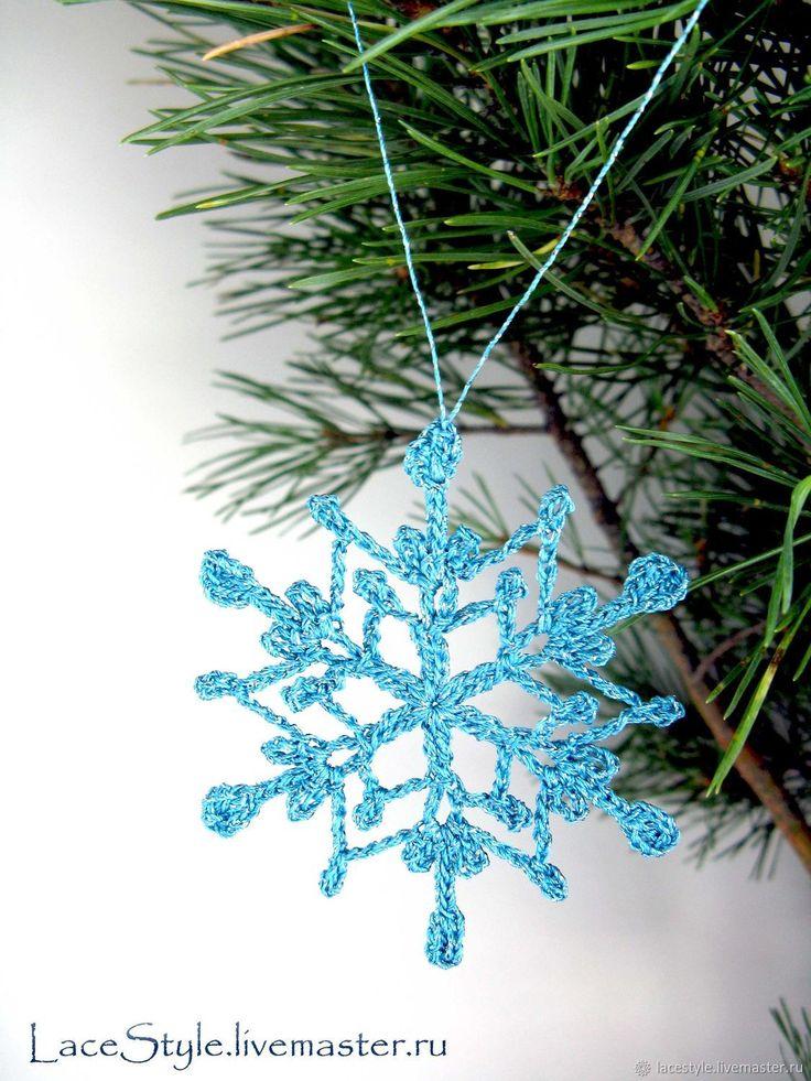 Купить Снежинки вязаные, Новогодний декор в интернет магазине на Ярмарке Мастеров