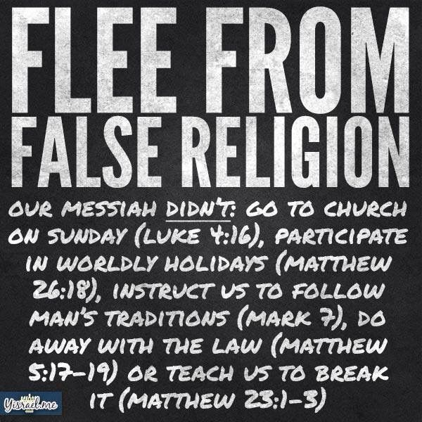 DWYD. Yeshua is #Torah. He is not in #traditions #holidays