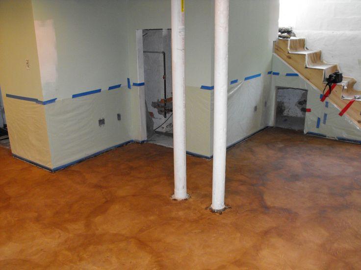 Stain On Concrete Basement Floor U2013 Fort Wayne, IN  Nick Dancer Concrete (2)