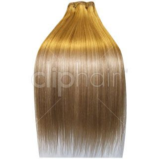 20 Inch Double Wefted Full Head  Clip In Hair Extensions - I Dark Ash Blonde/ Bleach Blonde Highlights I 175 grams Hair Weight I £69.99