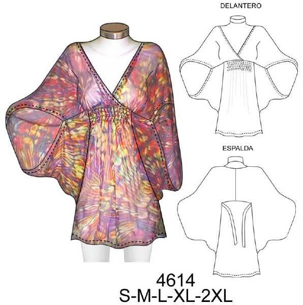 Kimono Blouse with sketch