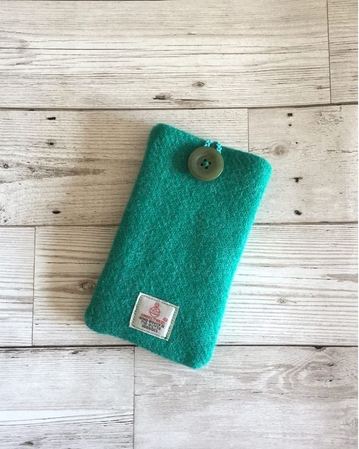 Plain Green Harris Tweed, Mobile Phone Case, Mobile Phone cover, Iphone6 Case, Samsung Case, Cell Phone Case, Harris Tweed Smart phone Cover by RetroChicCrafts on Etsy
