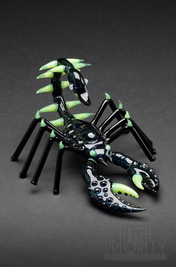 scorpion glass pipe