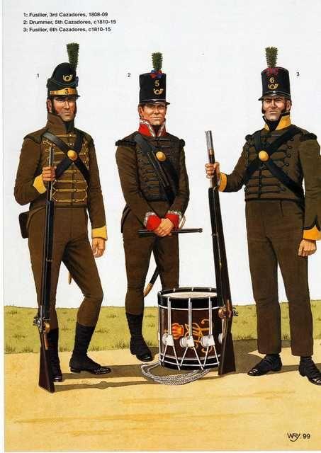 Fuciliere del 3 rgt. di fanteria, tamburo del 5 rgt. di fanteria e fuciliere del 6 rgt. di fanteria