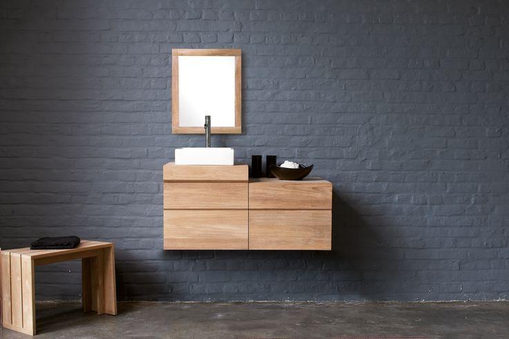 Collection Teck Urban | Line Art - Mobilier de salle de bain en bois massif