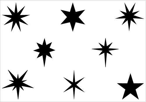 Christmas Star Silhouette Vector Graphics
