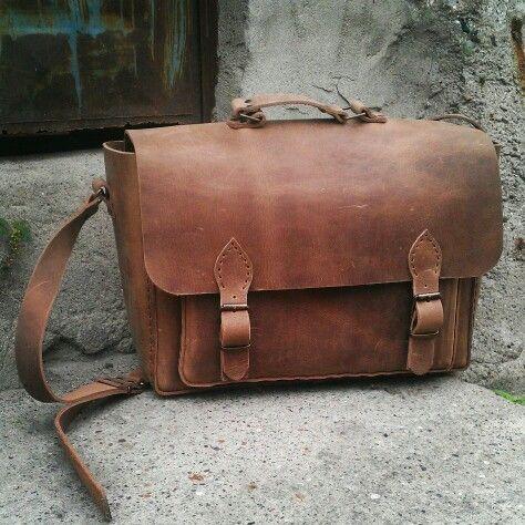 Handmade leather camera bag