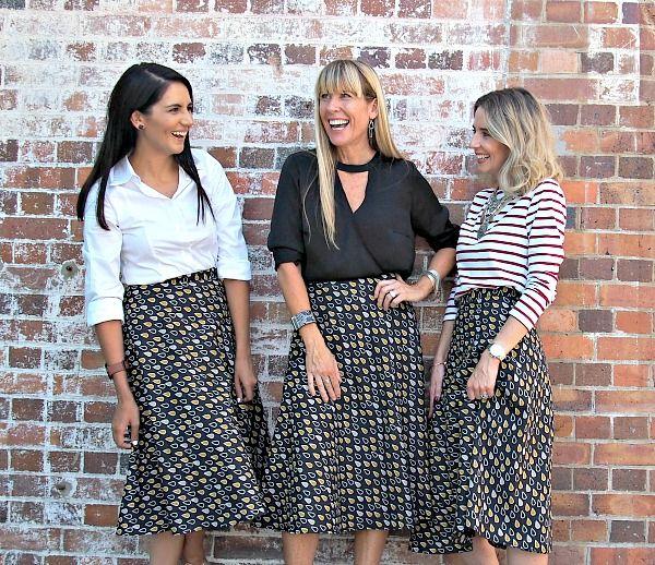 whattheteacherwears.com - That Bird Label Wren Wrap Skirt Monaro Mist