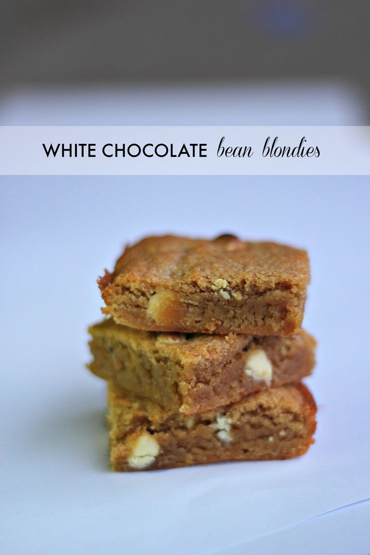 Beans In a white chocolate blondie Of course! Extra nutrition that you can't even taste.