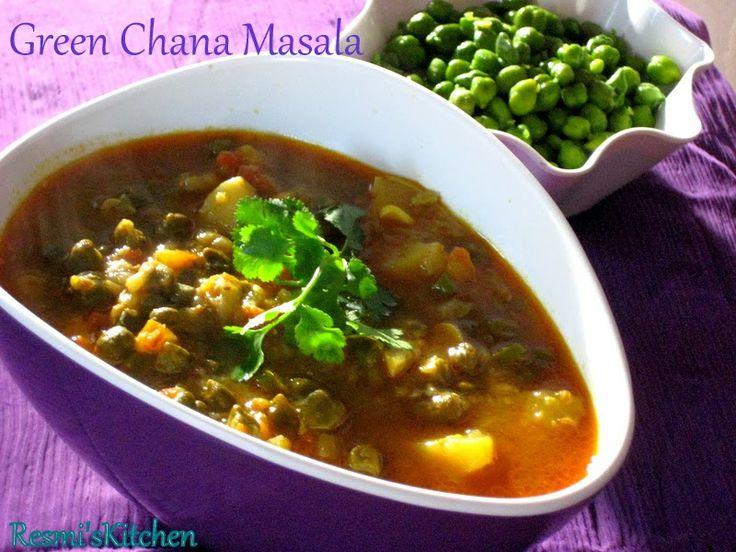 Resmi's kitchen: GREEN CHANA MASALA / HARA CHANA MASALA