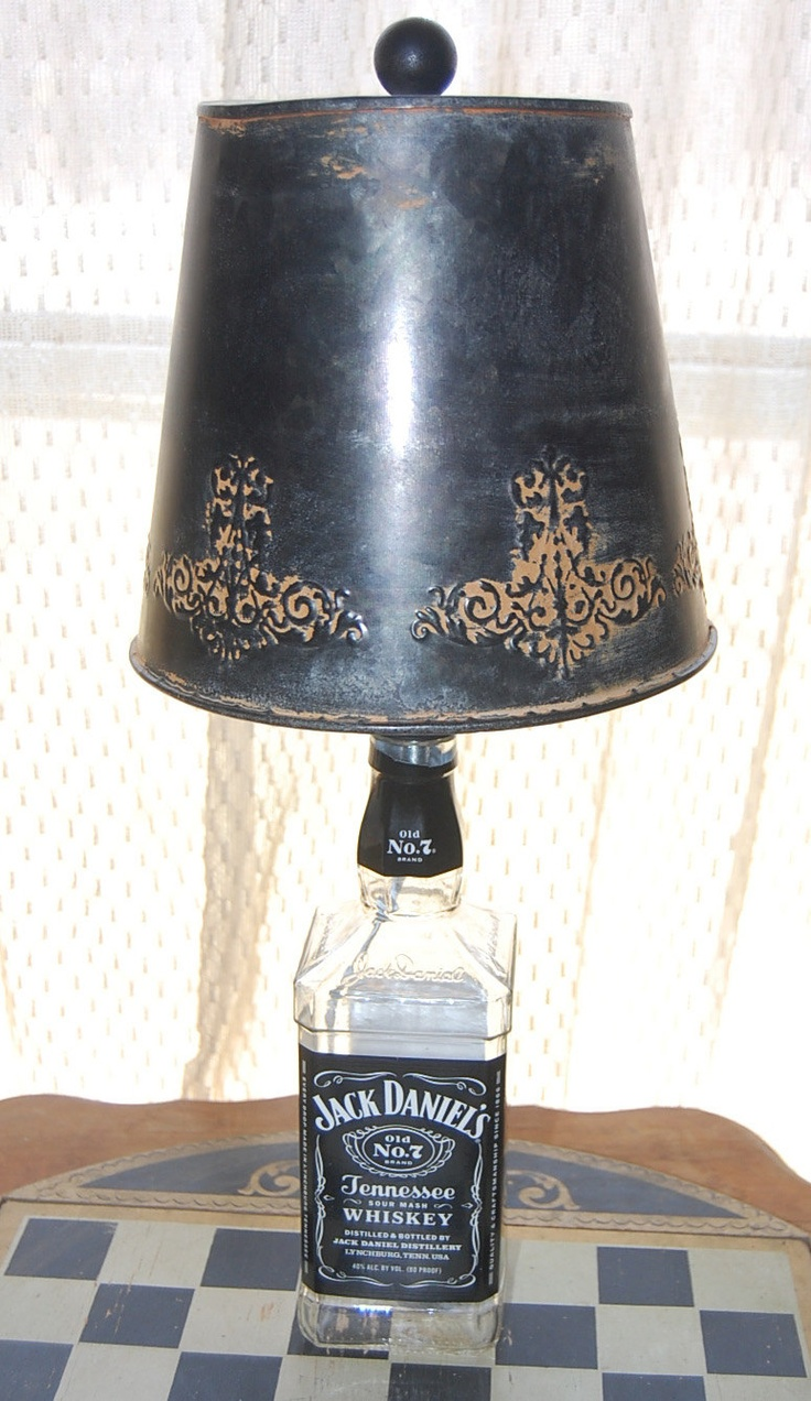 Jack Daniels Glass Top Table-Liquor Bottle-Recycled Bottles-Lounge-Bar-