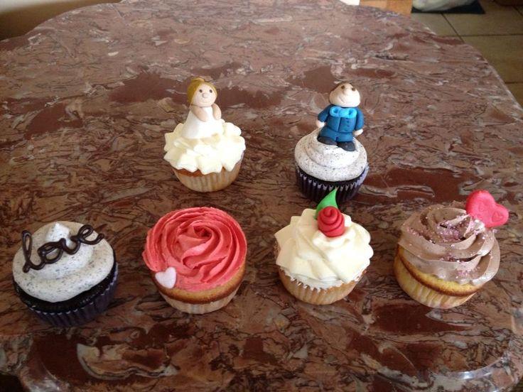 Cupcakes personalizados para matrimonio