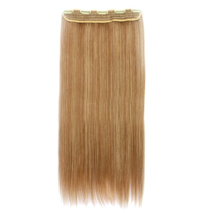 70cm 140g Invisible Hair Extension 5 Cards Wig 27A613