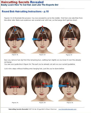 412 best pvot point images on pinterest hairstyles hair and round bob cleopatra helmet hair cutting instructions sample from haircutting ebook urmus Image collections