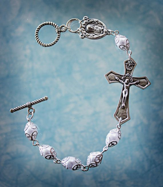 Rosary Bracelet Prayer Bracelet by AngelaVenArtwork on Etsy