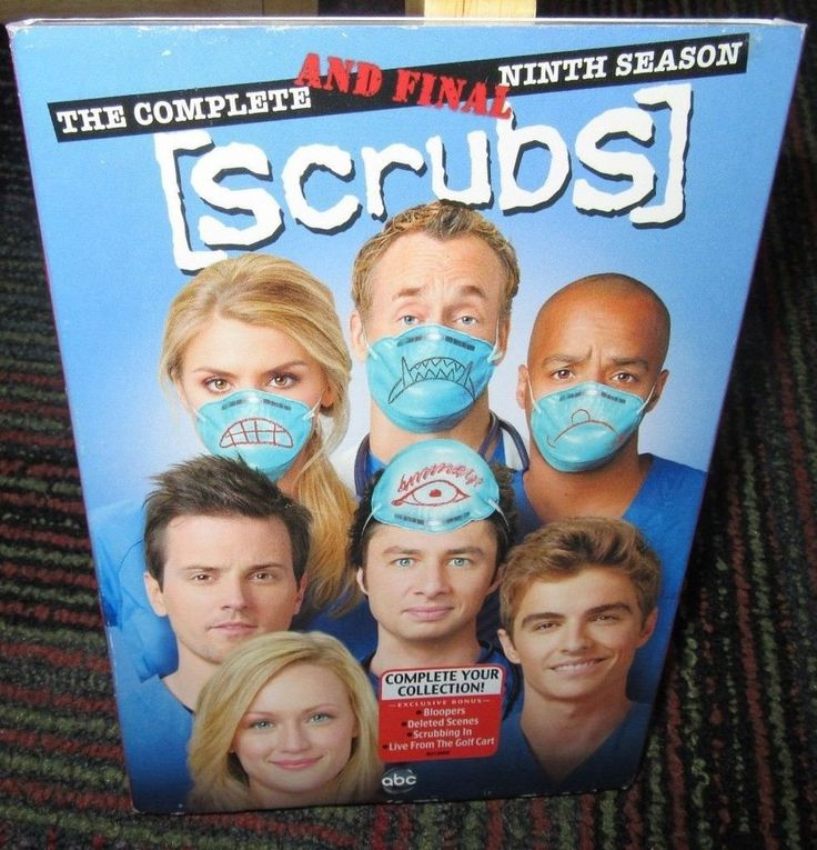 SCRUBS: THE COMPLETE & FINAL NINTH SEASON 2 DISC DVD SET, 9TH SEASON GUC