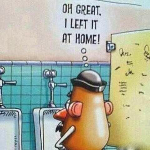 Mr. Potato... head? OMG this is so funny!