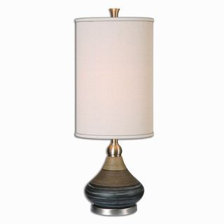 shop for uttermost warley aged black table lamp get free shipping at