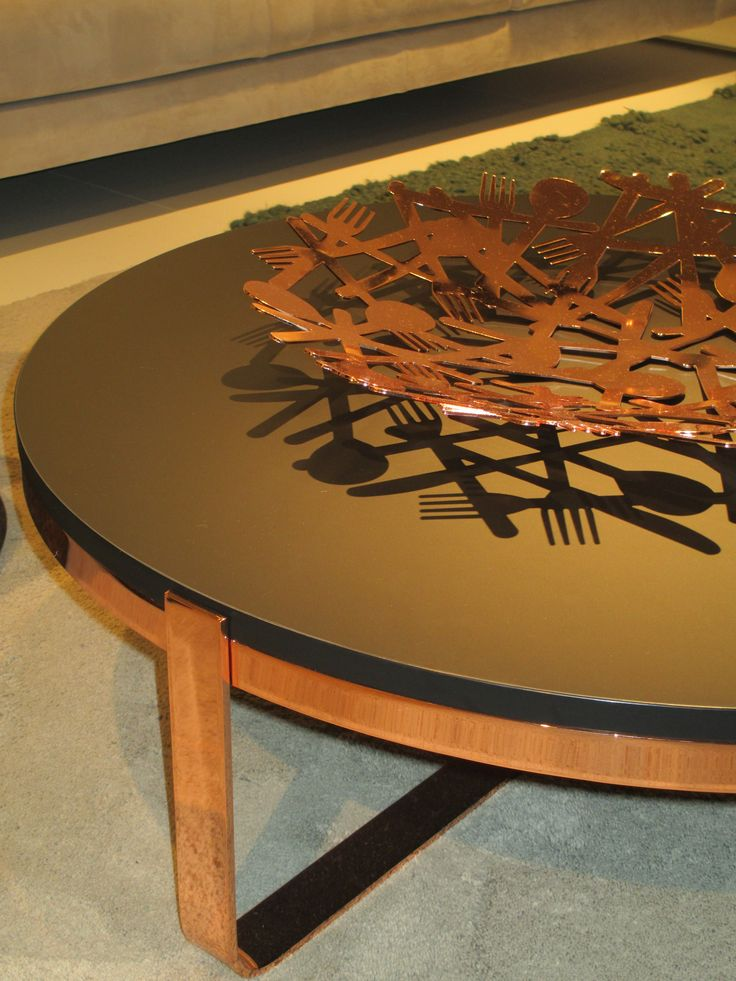Round and Round. Low table made of FENIX NTM. Nero Ingo.