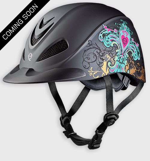 The New Rebel Fleur De Lis Western Helmet by Troxel.