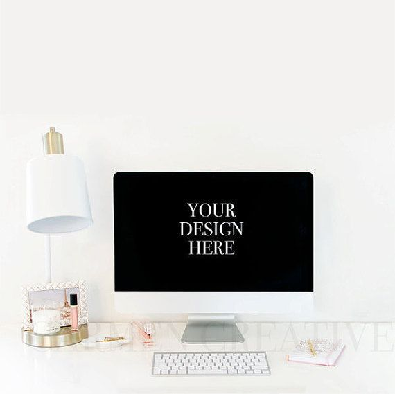 Vertical iMac Styled Stock Photo Office by CarmenCreativeShop
