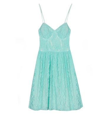 Mini lace dress with cups