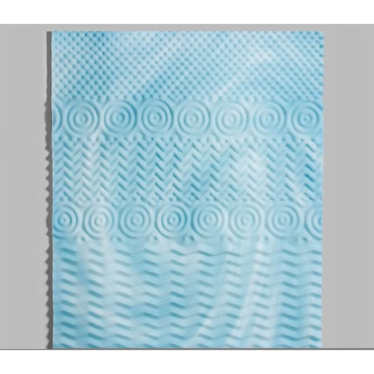 Orthopedic Memory Foam Queen Mattress Topper 5 Zone Comfort 3 Inch Thick #ebay #trinital #OrthopedicFoam