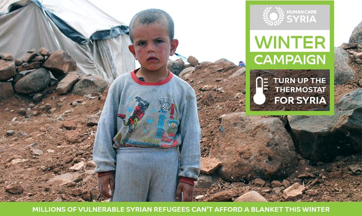 Millions of vulnerable #Syrian refugees can't afford a blanket this #winter  Donate a Winter Kit today: www.humancaresyria.org