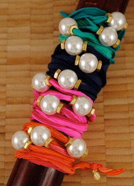 Wrap Bead Bracelets: Silk Wrap, Diy Pulseras, Easy Diy, Stylish Aunt, Diy Jewlery, Diy Projects