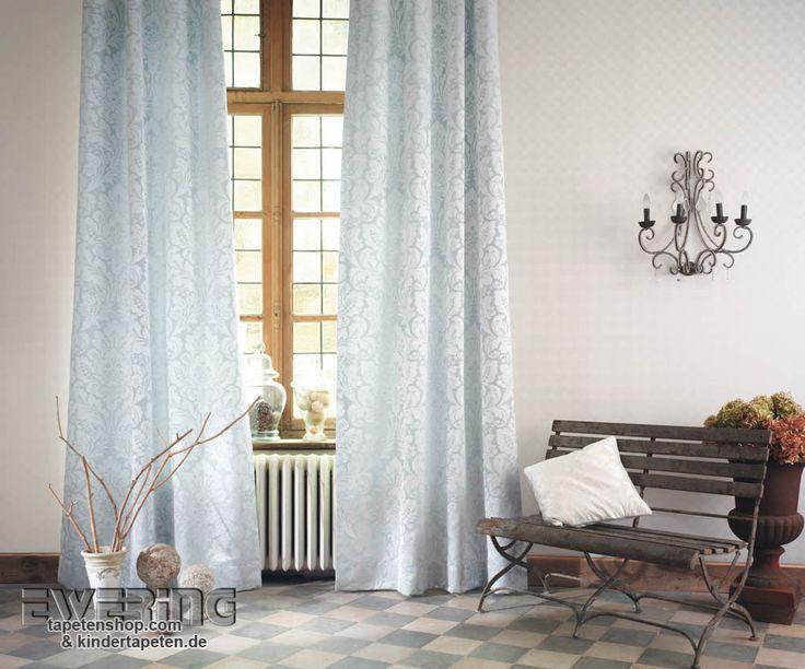 Casadeco   San Marco 3   Eis Blauer Dekostoff Und Kreis Tapete In Silber