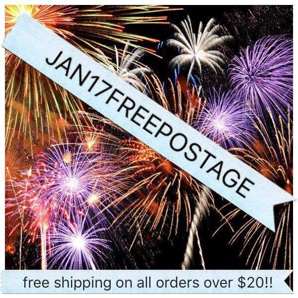 Free shipping on all orders over $20 during January 2017!!