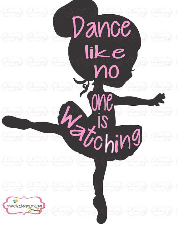 dance svg Dance like no one is watching SVG DXF EPS by BizzyBeeSVG