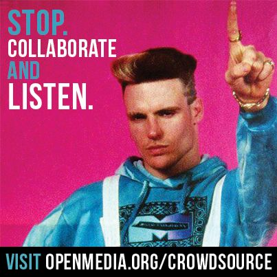 Only four days left to share your vision for sharing and collaborating in the 21st century. Do what Ice says - go to https://OpenMedia.org/CrowdSource right now and share widely!