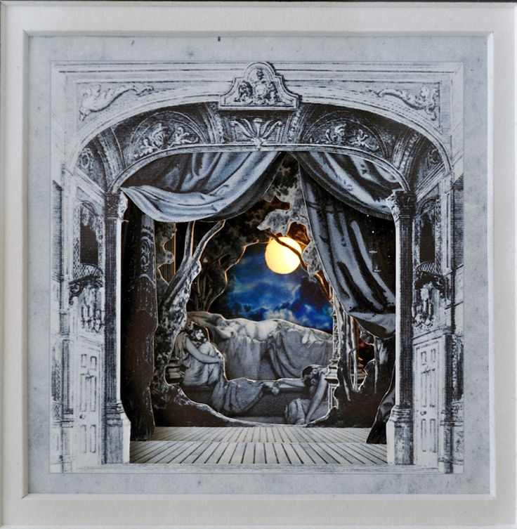 Sleeping Beauty light-up Paper Theatre by Rebecca Sims