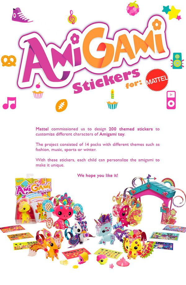 AmiGami Stickers for Mattel on Pantone Canvas Gallery